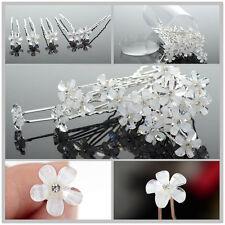 20pcs Mode Haarnadeln Perlen Braut Kommunion Hochzeit Blumen Strass Haarschmuck