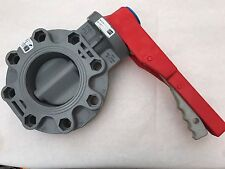 "Spears 4"" CPVC Butterfly Valve W/Lever P/N #723311-040C"