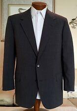 Oxxford Clothes Mens Gray Stripe 2 Btn 100s Suit Sz 42 44 R MINT!