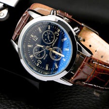 2020 Men's Leather Military Casual Analog Quartz Wrist Watch Business Watches