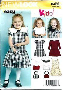 NL 6420 sewing pattern girls' DRESS & PURSE BAG sew CUTE sizes 3,4,5,6,7,8 UNCUT