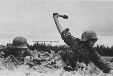 "German Troops throwing Stick Grenade in Russia 13""x 19"" WWII Photo Poster 232"