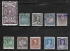 E9] ITALY 10 different revenue stamps