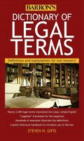 Barron's Dictionary of Legal Terms : Definitions and Explanations for Non-law...