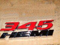 OEM Red 345 HEMI Emblem Badge decal 3D for Dodge Challenger Chrysle Glossy uWU