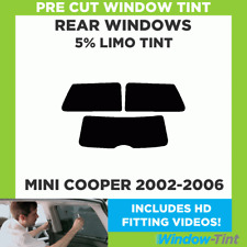 Pre Cut Window Tint - MINI COOPER 2002-2006 5% LIMO BLACK REAR