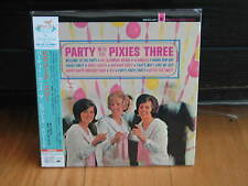 PIXIES THREE PARTY WITH PIXIES THREE RARE OOP JAPAN MINI-LP CD