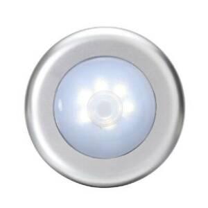 6-LED Motion Sensor Lights PIR Wireless Night Light Battery Cabinet Stair Lamp~