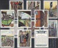CHURCHMAN-FULL SET- RAILWAY WORKING (2ND SERIES L13 CARDS) - EXC