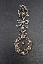 Superbe ancien pendentif en argent massif et or diamants taille rose XIXeme