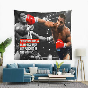 """""""Everyone Has A Plan Till They Get Punched In The Mouth""""  Mike Tyson Tapestry"""