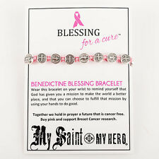 "St. Benedict Medal ""Blessing for a Cure"" Bracelet"