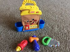 Talking Tool Bag Fisher Price Set w/3 Toy Tools Rattles Laugh & Learn