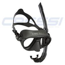 CRESSI Calibro Silicone Mask Set /  Black ( One Size)