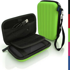 Green Hard Case Cover Pouch for Portable External Hard Drive 160 x 93.5 x 21.5mm