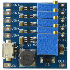 5x 2A booster board DC-DC step-up module input 2/24V to 5/9/12/28V Replace 2577