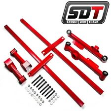 RED 79-04 Mustang Rear Upper Lower Tubular Control Arms Subframe Connector Kit