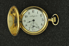 VINTAGE 0 SIZE ELGIN HUNTING CASE POCKET WATCH GRADE 269 FROM 1904 KEEPING TIME