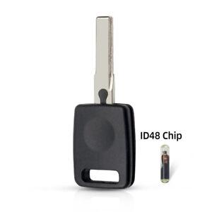 Scocca esterna chiave con lama e chip transponder ID48 per AUDI - NO ELETTRONICA