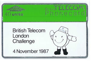 1987 British Telecom London Challenge BT Internal Card BTI-002. 40 units mint.
