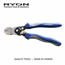 """7"""" 190mm Diagonal Side Cutter Pliers Compound Action High Leverage CrV Taiwan HD"""
