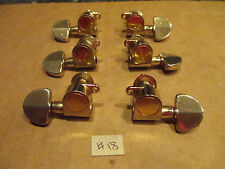 JAPANESE VINTAGE GUITAR TUNERS 1970'S or EARLY 1980's 3 + 3 in GOLD - #18