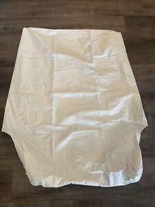 White vinyl chair cover