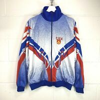 90s VINTAGE C.S.V. LIGHTWEIGHT ZIP UP SUMMER CYCLING RACE JACKET RARE size L/XL