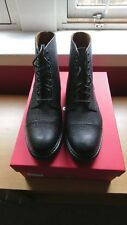 MEN'S Grenson Noir Pebble Grain Derby Boot taille UK 7 g