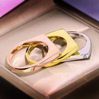 14K Yellow Gold Geometric Fashion Zircon Ring Wedding Band Crystal Rings Jewelry