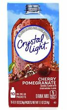 18 10-Packet Boxes Crystal Light Cherry Pomegranate On The Go Drink Mix