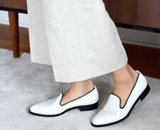 9269d999845 Everlane The Modern Smoking Loafer White Black Italian Leather Sz 8 Made  Italy
