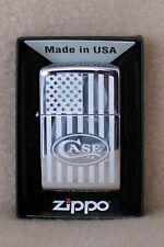 Zippo Lighter      CASE US FLAG
