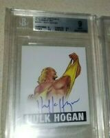 BGS 10 9 Hulk Hogan 2012 Leaf Originals Wrestling Card Autograph Auto WWE #A-HH1
