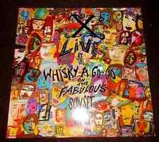X LIVE AT THE WHISKY A GO GO ON THE FABOLOUS SUNSET STRIP LP DOPPIO