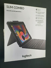Logitech Slim Combo Case Bluetooth Wireless Keyboard in Box iPad 9.7 5th 6th A+