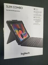 Logitech Slim Combo Case Bluetooth Wireless Keyboard - Apple iPad 9.7 5th 6th A+