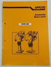 Ammann Duomat DVS 68 Ersatzteilkatalog Ersatzteilliste Parts List 4/1986