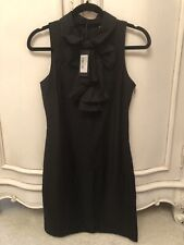 BNWT TED BAKER LADIES BLACK RUFFLE BOW SHIFT DRESS SIZE 2 10