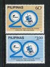 Philippines 1746-1747, MNH, International Telecommunications Satellite Organ1985
