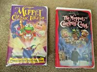 Muppet Classic Theater & The Muppet Christmas Carol children's movies 2 VHS