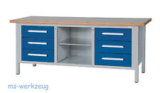 AKTION Dringenberg Werkbank 2000 KWB 3/7 fix - freie Farbwahl!