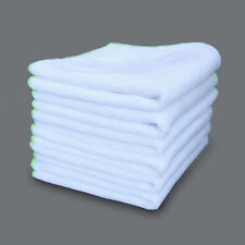 6 Pack White Car Wax Polishing Cloth Microfiber Ultra Soft SPA Cleaning Towels