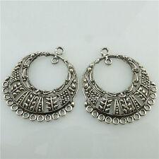 (98461-10X) Alloy Crafts Tassels European Flower Pendant for Earrings Silver