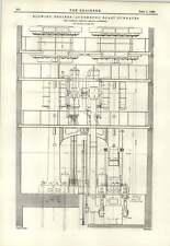1893 motores de soplado Luxemburgo altos hornos sección transversal nuevo Fotómetro