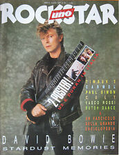 ROCKSTAR 81 1987 David Bowie Dropouts Paul Simon Carmel Vasco Rossi Cult Moda