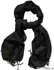 100% CASHMERE CLASSIC FASHION MEN'S BLACK COLOR SCARF WRAP SHAWL VERY SOFT S#4