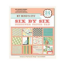 "My Mind's Eye  6x6204  ""My Favorite Things""  6x6 Designer Paper Pad 24  Sheets"