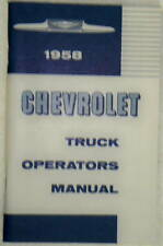 58 1958 Chevy Chevrolet Truck Owners Manual Glove Box