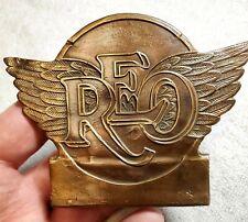 Original REO SPEEDWAGON Enamel Radiator Badge Emblem 1930 Only Fox VERY RARE